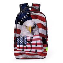 Creative personality 3d hawl flag digital print school travel backpack - $26.00