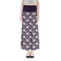 Women's Elephant Printed Summer Casual Stretchy Fit Long Maxi Skirt Size... - $28.99+