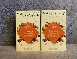 Yardley London Pumpkin Cream & Cinnamon Bar Soap 4.25oz, 2 Bars - $15.99