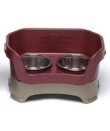 Neater Feeder Deluxe Medium Dog (Cranberry) - The Mess Proof Elevated Bo... - $112.69