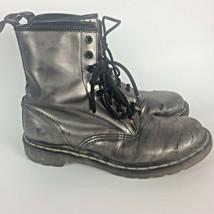 Doc Martens Women's Platinum 8 Eye Boots US Size 8 Air Walk Bouncing Soles - $24.45