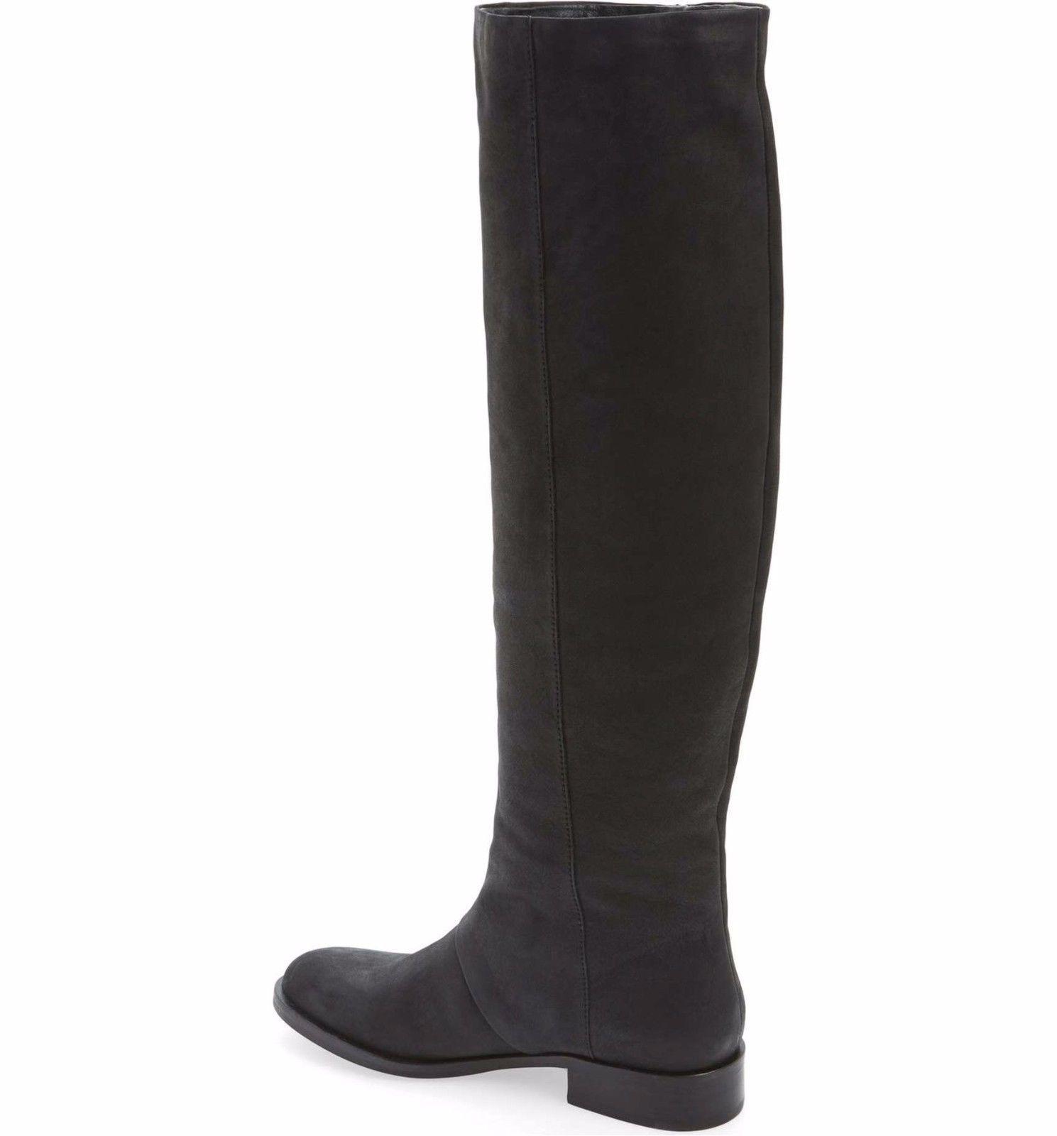 aa8ca56ef6e32  275 SAM EDELMAN New Josephine Tall Fringe Leather Riding Boots Black Size 5