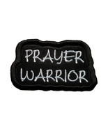 """Prayer Warrior Embroidered Iron On Patch 2.5"""" x 1.5"""" Easter Cross Jesus ... - $4.97"""