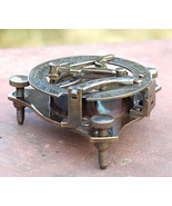 Vintage Nautical Antique Solid Brass Working Sundial Compass Marine Astr... - $9.52