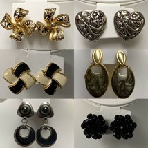 Vintage Lot of 6 Clip On Earrings Womens - $43.54