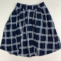 Lularoe A-Line Skirt Women's XS Blue White Knit Flowy Pull On Elastic Waist - $17.99