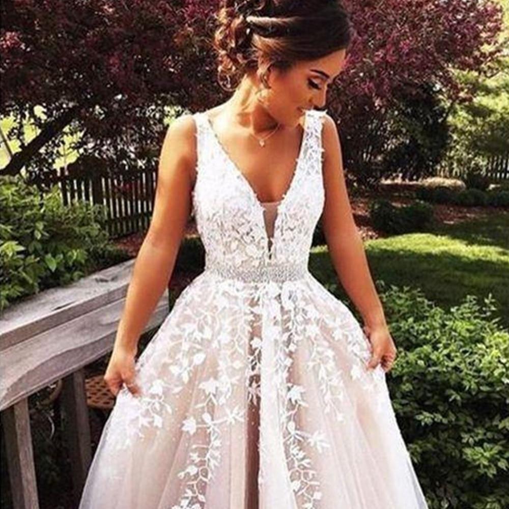 Agne floor length applique open back a line backless bridal ae13cdd6 b34b 4482 bfce dde470bd0dbe
