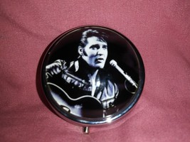 Elvis Presley Custom Unique Round Pill Box - $15.99
