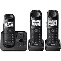 Expandable Cordless Phone Panasonic Answering Machine 3 Handsets System ... - $108.90