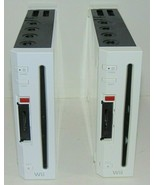 (2) Wii Consoles Only Not Working Parts only.  Not working AS-IS Both Tu... - $28.98