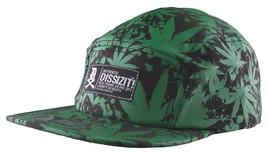 Dissizit Black Green Hawaii Pakalolo Weed Marijuana 5-Panel Strapback Hat Cap NW
