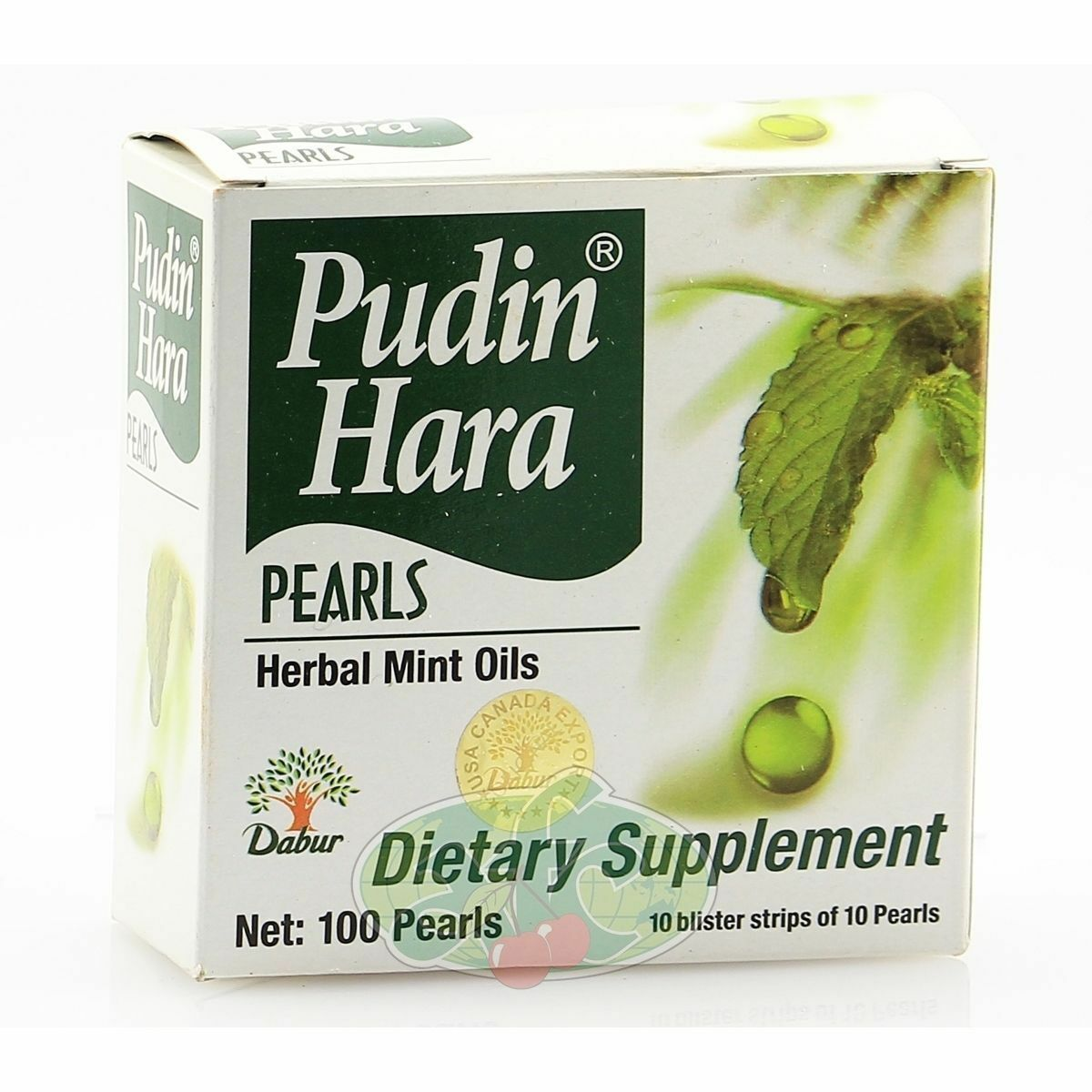 Primary image for 50 Tablet  Dabur Pudin (Mint) Hara Pearls Oil Herbal Indigestion USA SELLER