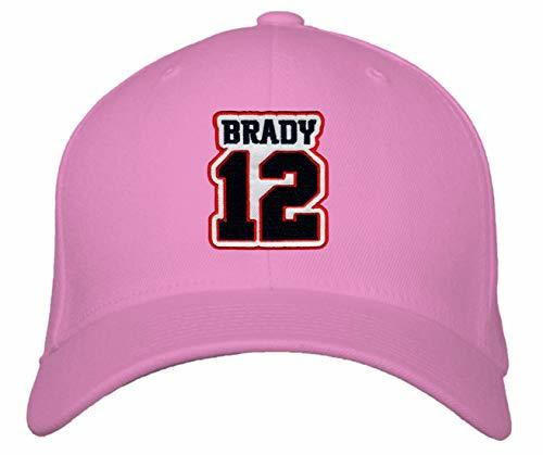 Tom Brady No. 12 Hat - Adjustable Unisex Pink Football Cap