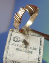 USSR Soviet Old Art jewelry Silver 925 RING marked MSS Moscow Original L... - $60.00