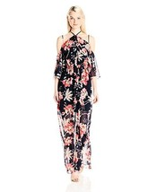 XOXO Women's Printed Ruffled Off the Shoulder Dress W/ Slit - Choose SZ/... - $139.80