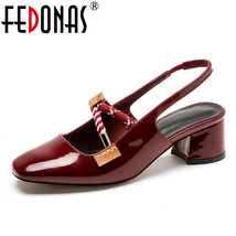 FEDONAS Toe Shoes Women Square W Leather Comfortable Summer New Sandals Genuine 6Zq6wnr4a