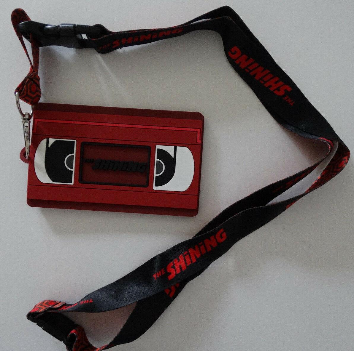 The Shining Movie VHS Tape Horror Movie ID Badge Holder Keychain Lanyard