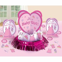 "Shower with Love Girl Table Decorating Kit (23 Pieces) 12"" - $13.09"