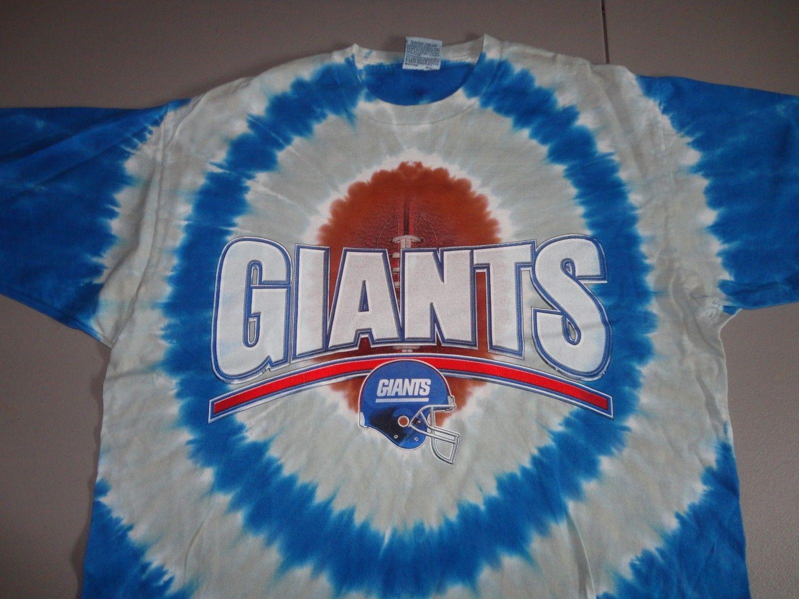 RARE Vintage Liquid Blue New York Giants NFL Tye Tie Dye Die T-Shirt  Adult L image 2