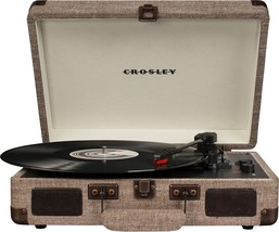 Crosley CR8005D Deluxe Cruiser Portable Bluetooth Turntable Record Player Havana - $79.95