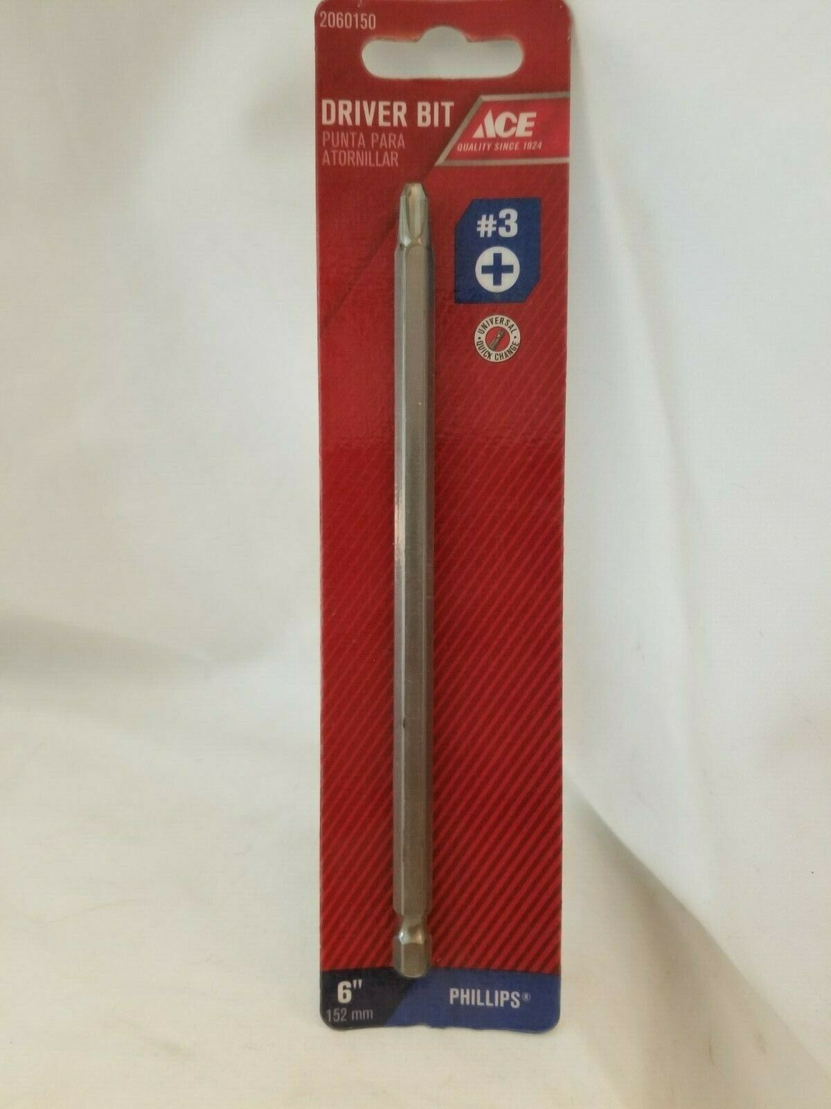 "Primary image for Ace Phillips 6"" Screwdriver Bit 2060150 #3 Tool Steel"