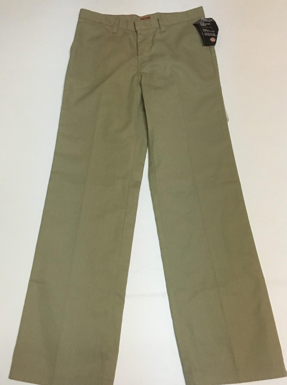 Dickies Khaki Girl's Pants NWT SZ 14 Regular