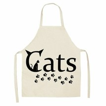 Kitchen Apron Funny Dog Bulldog Cat Printed Sleeveless Cotton Linen Apro... - $7.99