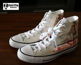 Converse Mens CTAS Hi San Francisco Golden Gate Sneakers White Orange Size 5 - 9 - $79.99
