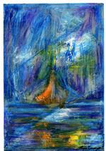 CHIMERA VII Marian Lupu Original Ink Drawing Mixed Media Art Phantom Sai... - $94.99