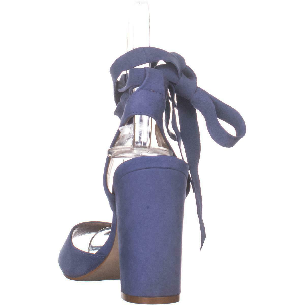 Steve Madden Kenny Ankle Strap Sandals, Blue Nubuck, 6.5 US image 5