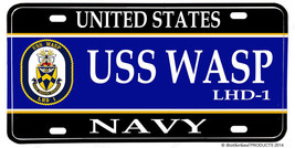 US Navy USS Wasp LHD-1 Aluminum License plate - $13.81