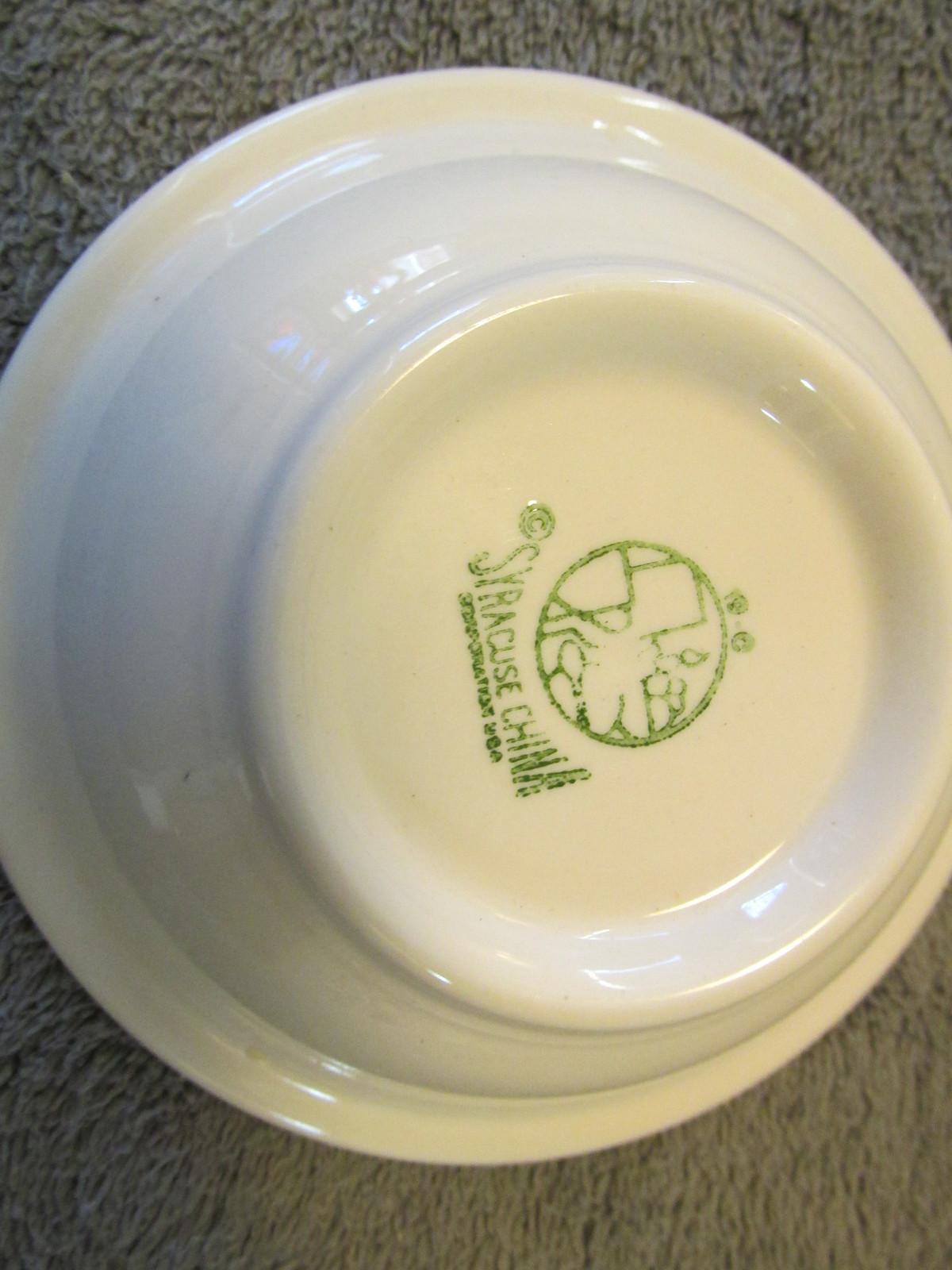 "Vintage Syracuse China Set Of 3 Blue Specked Restaurant Dessert 4 1/2"" Bowl"