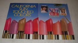 1990 Max Factor Ad - Moisture Rich Lipstick and Diamond Hard Nail Enamel - $14.99