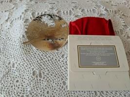 Avon 1992 Silverplate Ornament Dashing Through The Snow - $6.78