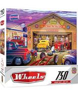 MasterPieces Wheels Jigsaw Puzzle, Old Timer's Hot Rods, Featuring Art b... - $11.21