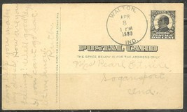 1909 (Apr 8) 1 cent McKinley postcard with left correspondence, Walton, ... - $4.00