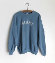 Miami Retro Faded Graphic Blue Sweatshirt Cotton Blend Size Large Champion image 2