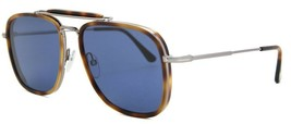 Tom Ford HUCK 665 53V Havana Gold / Blue Sunglasses TF665-53V 58mm - $234.22