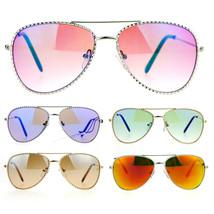 SA106 Kids Girls Bling Luxury Designer Fashion Metal Aviator Sunglasses - $9.85+