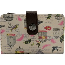 George Ladies Indexer Wallet Bird Cage Design Brown Tan  NEW - €11,71 EUR