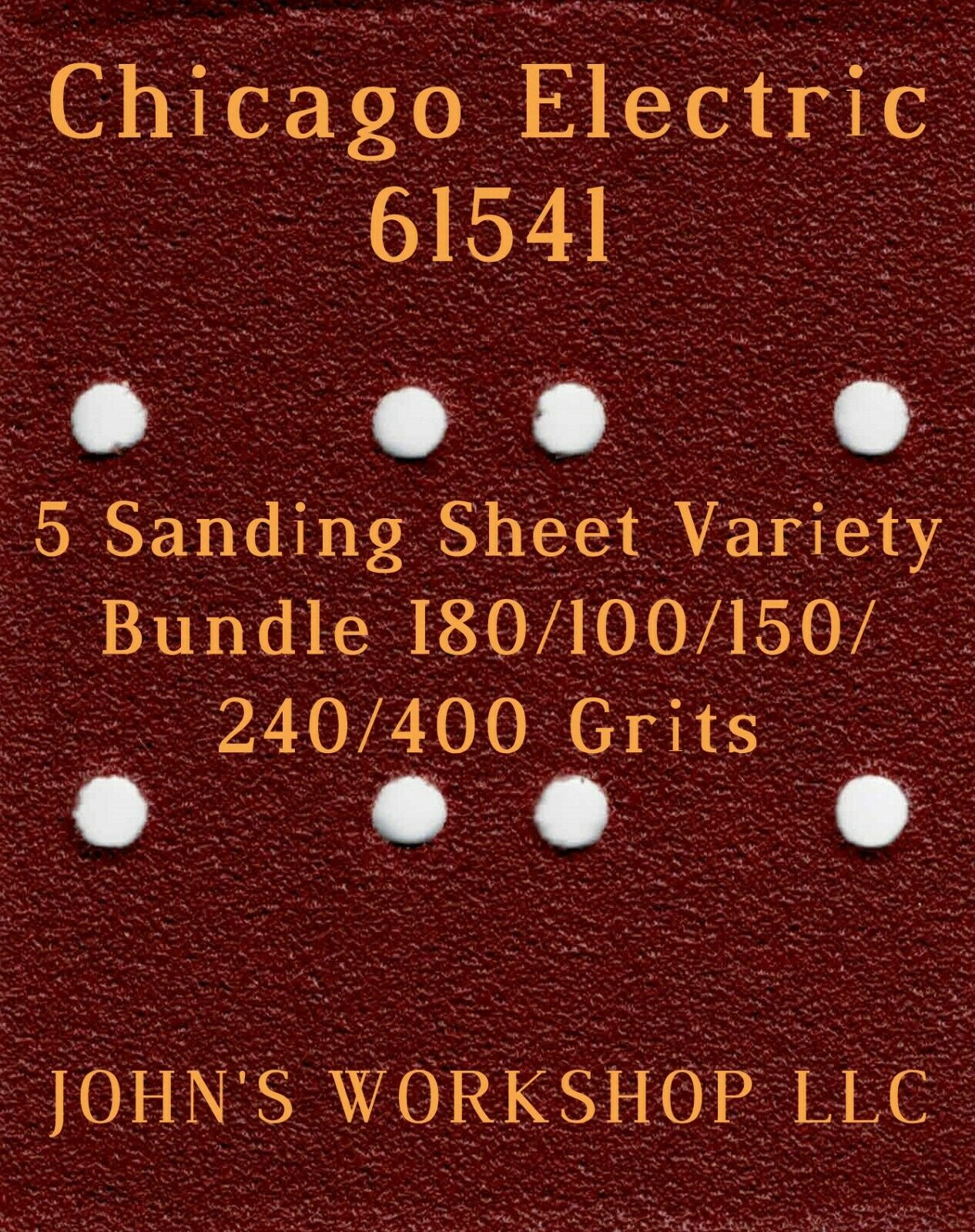 Primary image for Chicago Electric 61541 - 80/100/150/240/400 Grits - 5 Sandpaper Variety Bundle I