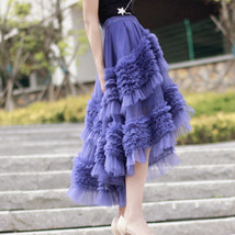 High-low Layered Tulle Skirt Outfit Plus Size Wedding Outfit Tiered Tulle Skirt image 7