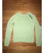 * American Eagle Girls green open weave knit sweater small 8 - 10 - $11.88
