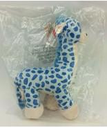 "Gitzy Blue Plush Giraffe Toy Striped Polka Dots Baby Nursery Decor 16"" NWT  - $38.69"