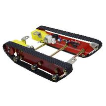Smart Robot Tank Chasis Kits Caterpillar Crawler Integrated Two motor fo... - $71.98