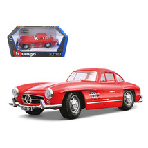 1954 Mercedes Benz 300SL Gullwing Red 1/18 Diecast Model Car by Bburago ... - $54.41