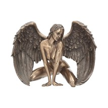Bronze Naked Nude Female Angel Figurine Sculpture Ornament Statue 17.5cm... - $63.44