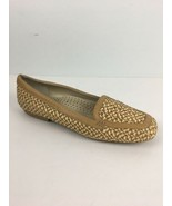 Eric Javits Womens Shoes 10.5 Brown Beige Woven Loafer Flats Leather Trim - $37.12