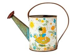 FREE SHIP: Vintage Childrens Water Can - Retro Tin Gardening Toy - $30.39