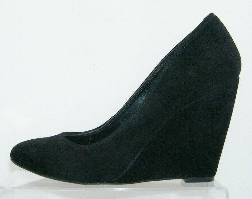 Jessica Simpson 'Amari' black suede amond toe slip on womens wedges 8.5B image 9